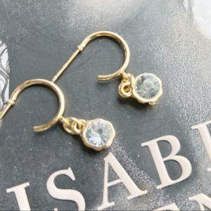 DAINTY MINI DIAMOND CHARM BOHO HOOPS EARRINGS SET